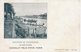 Sadec Quai Marguerite Duras L' Amant Edit Legros Avant 1903 Pub Chocolat Felix Potin - Viêt-Nam