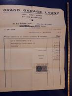 1955 GRAND GARAGE AUTOMOBILE DE LAGNY ATELIER DE MECANIQUE RUE ARMAND CARREL MONTREUIL SOUS BOIS RENAULT 4CV CARROSSERIE - Artesanos