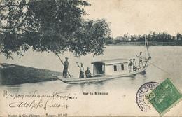 """Sur Le Mekong Edit Mottet Saigon Envoi Sur Le """" Descartes """" Marine Guerre Près Du """" Redoutable """" - Viêt-Nam"""