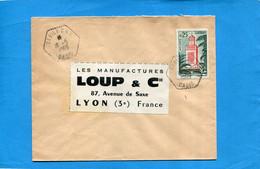 Marcophilie-Algérie-Lettre   >Françe-cad-1963- DEBILA Oasis- Stamps Thematic-N°Tlemcen - Algeria (1962-...)