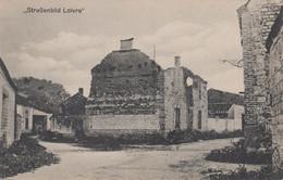CARTE PROPAGANDE ALLEMANDE - GUERRE 14-18 - LOIVRE (MARNE) - UNE RUE EN RUINES - Guerra 1914-18