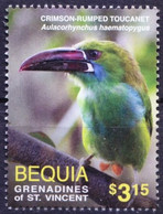 Gr. Of St. Vincent, Bequia 2016 MNH, Crimson-rumped Toucanet, Birds - Cuckoos & Turacos