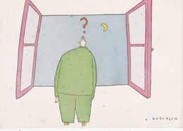 3 Cartes Postales: LE GRAND ALBERT De Lionel Koechlin. - Humor