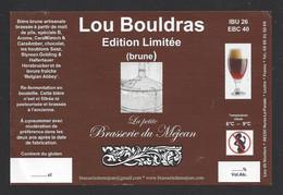 Etiquette De Bière Brune    -  Lou Bouldras  -  Brasserie Du Méjean à Hures La Parade  (48) - Beer