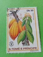 SAO TOME E PRINCIPE - Timbre 1981 : Série Fruits - Le Cacaoyer (Theobroma Cacao) - São Tomé Und Príncipe