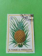 SAO TOME E PRINCIPE - Timbre 1981 : Série Fruits - L'Ananas (Ananas Saturis) - São Tomé Und Príncipe