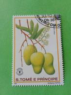 SAO TOME E PRINCIPE - Timbre 1981 : Série Fruits - La Mangue (Mangifera Indica) - São Tomé Und Príncipe