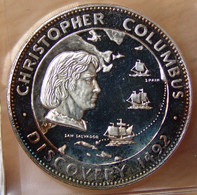 Médaille Christophe Colomb / LEIF Ericson Espagne à San Salvador Année 2000 - Profesionales/De Sociedad