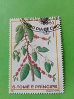 SAO TOME E PRINCIPE - Timbre 1981 : Série Fruits - Le Caféier D'Arabie (Coffea Arabica) - São Tomé Und Príncipe