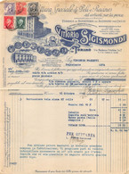 "02838   ""VITTORIO SIGISMONDI - TORINO - FATTURA SU CARTA INTESTATA - 1942"" ORIG. - Unclassified"