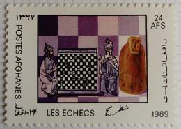 Afghanistan 1989 Jeu Game Echecs Chess Yvert 1447 * MH - Afghanistan