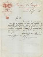 """02840   """"ROSSI & DE GASPARI TORINO - FORCELLE E FUSTI PER OMBRELLI"""" LETTERA ORIG. - Unclassified"""