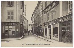 CPA 38 Isère Saint Marcellin Grande Rue Près De Chatte St Antoine L'abbaye La Sône Dionay Roybon Vinay Hilaire Du Rosier - Saint-Marcellin