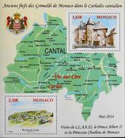 Monaco - 2014 Feuillet Neuf** N° F2927 - CANTAL - Anciens Fiefs Des Grimaldi De Monaco - TBE - Blocks & Sheetlets