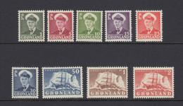 Greenland 1950 - Michel 28-36 MNH ** - Ungebraucht