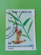 SAO TOME E PRINCIPE - Timbre 1996 : Série Plantes - Cardamone Africaine (Aframomum Daniellii) - São Tomé Und Príncipe