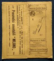 """02846   """"TOURING CLUB CICLIST. ITAL. - PLANIM. E PROFILI PASSO DEI GIOVI"""" ORIG. - Roadmaps"""