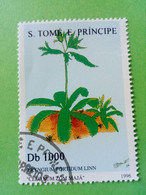 SAO TOME E PRINCIPE - Timbre 1996 : Série Plantes - Coriandre Mexicaine (Eryngium Foetidum Linn) - São Tomé Und Príncipe