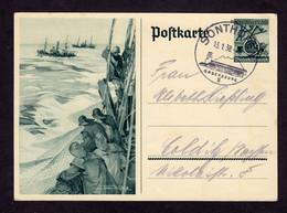 DR Sonder-Postkarte P 266 SONTHOFEN - Colditz - 13.1.38 - Stamped Stationery