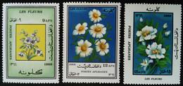 Afghanistan 1988 Fleur Flower Yvert 1384 1385 1386 * MH - Afghanistan