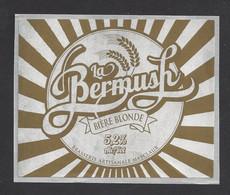 Etiquette De Bière Blonde  -  La Bermush  -  Brasserie Masclaux à Bermericourt  (51) - Cerveza