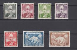 Greenland 1938  - Michel 1-7 MNH ** - Ungebraucht