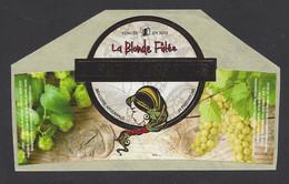 Etiquette De Bière   -  La Blonde Futée  -  Brasserie JH Prestations à Ay  (51) - Beer