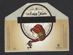 Etiquette De Bière   -  La Rousse Délurée  -  Brasserie JH Prestations à Ay  (51) - Beer