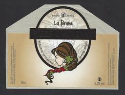 Etiquette De Bière   -  La Brune  -  Brasserie JH Prestations à Ay  (51) - Beer