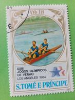 SAO TOME E PRINCIPE - Timbre 1983 : 23e J.O. D'hiver De Los Angeles '84 - Aviron - São Tomé Und Príncipe