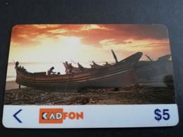 MALAYSIA Nice Used  KADFON   MAGNETIC  $5  ,-  SERIE 1MSTA        ** 5487*** - Maleisië