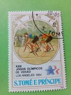SAO TOME E PRINCIPE - Timbre 1983 : 23e J.O. D'hiver De Los Angeles '84 - Course Cycliste - São Tomé Und Príncipe