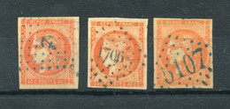 !!! 3 EX DU N°48 OBLIT ANCRE, PC GC ET GC 5107 TUNIS. TIMBRES AVEC LEGERS DEFAUTS - 1849-1876: Période Classique