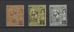 MONACO.  YT  N° 70/72  Neuf **  1924 - Unused Stamps
