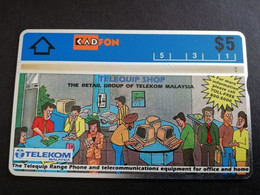MALAYSIA Nice Used  KADFON   L&G CARDS   $ 5 ,-  SERIE 301A       ** 5491*** - Maleisië