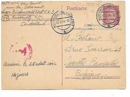 SH 0897. EP Allemagne Mi P 299 AUSCHWITZ (OBERSCHLES) 12.8.44 - Du Camp De Buchenwald Vers Bruxellees. Censures. TB - Covers