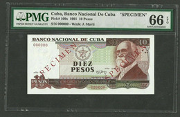 Central America Banco Nacional 10 Pesos 1991 SPECIMEN P#109s PMG 66 EPQ - Other - America