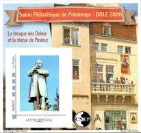 CNEP N°  83 De 2020 - Bloc Autoadhésif - Salon Printemps, Statue De Pasteur à Dôle (Jura) - CNEP
