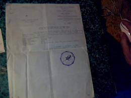 Vieux Papier Avec Cachet Royaume Du Maroc 1959  Villa Dar Es Salam Tanger Récépissé Pour Déclaration D'une Arme à Feu - Seals Of Generality