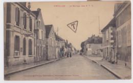 Vincelles Le Bureau Des PTT Carte Taxé Cachet T Dans Un Triangle 4 Timbres Taxe 5c Bleu 1924 Yonne - 1859-1955 Covers & Documents