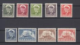 Greenland 1950 - Michel 28-36 Mint Hinged * - Ungebraucht