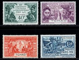 Chad 1931 MH Set Mi 58-61 - Unused Stamps