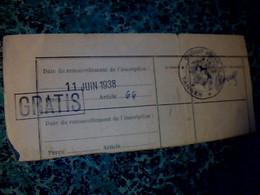 Maroc Protectorat Vieux Papier Avec Cachet Consulat Général De France à Tanger Coupon De 1938** - Seals Of Generality