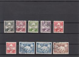 Greenland 1938 1946 - Michel 1-7 + 26-27 Used - Gebraucht