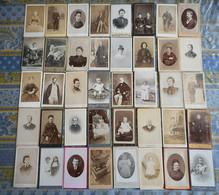 LOT DE 40 PHOTO CDV HOMME FEMME ENFANT BEBE  Etc.. - Anciennes (Av. 1900)