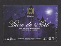 Etiquette De Bière De Noël -  Brasserie De Chamois à Mouzay (55) - Beer