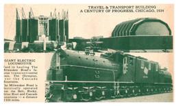 Illinois  Chicago Travel & Transport Building Giant Electric Locomotive , World's Fair 1934 - Chicago