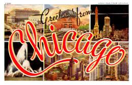 Illinois  Chicago   LARGE LETTER - Chicago