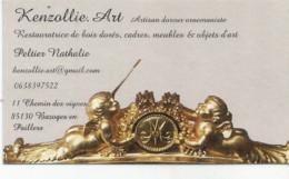 CV5 Cpa / Publicitaire / Advertising Business Card CARTE De VISITE BAZOCHES EN PAILLERS (85 ) ART Restauration - Otros Municipios