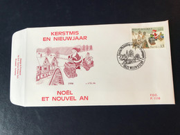 FDC  1118  Noël Et Nouvel - An Père Noël  T. No 25801 PRIX 1,50 € - 1991-00